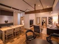 新棟■別邸月白和洋室・離れ■122平米の室内に半露天風呂付客室