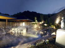 【露天風呂 桂浜イメージ】龍馬像が眺める『桂浜』をイメージした露天風呂。壷湯に室戸海洋深層水風呂も◎