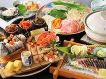 【2月3月限定★皿鉢祭り】郷土料理の皿鉢料理と四万十ポークのぽかぽか生姜鍋をお得に舌鼓♪