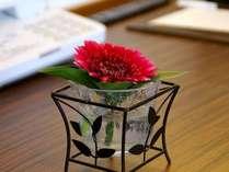 ★レディースルーム★かわいいお花を設置♪