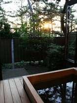 露天風呂付客室からの夕日