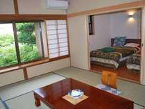 和洋室タイプ(ベッドはセミダブルサイズです)