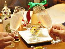 クリスマス★チョコとワインのプレゼント♪ちょっぴり贅沢に♪黒豚しゃぶor黒牛ステーキ選べるメイン