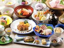 ■お料理一例■夕食は新鮮な山海の幸が自慢のふるさと料理をご堪能下さい。