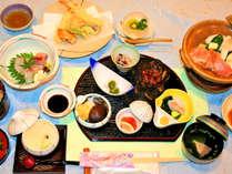 【夕食一例:田舎会席】海・山の旬の食材を使用した会席料理☆