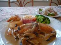 オードブルと魚料理