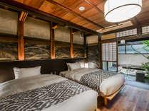 【AWA101-43平米】[和室+ベッドルーム+庭園+檜半露天風呂付]