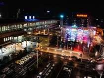 スーペリアフロアから見える夜景(駅広場側)