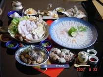 ももち浜ストアで放映されました。当館イチオシ「天然アラ尽くし」料理です。!