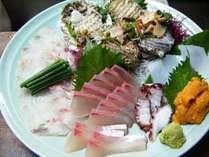 海席料理の刺し盛り
