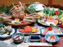 活松葉カニをふんだんに使用した絶品料理に舌鼓。