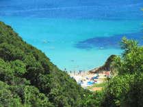 ■九十浜海水浴場■ ロケ地としても有名な透明度抜群の穴場的ビーチ。当別荘からお車で2分!