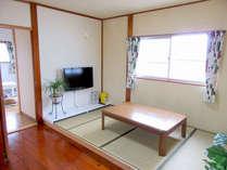 【ROOM クマノミ】 1戸建て貸別荘(6畳・4.5畳、二階建てタイプのお部屋)