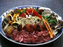 名物「きのこソバ鍋」