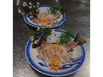秋神温泉の清流で育てたイワナの姿造り