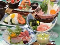 お気楽コース【夏の花心会席】奥出雲豚しゃぶしゃぶ×夏野菜と海鮮の鉄板焼き
