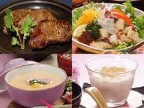 肉食女子にたっぷり150gステーキ会席お1人様¥12,960(税込)ヘルシーで熟成された黒毛和牛赤身肉を使用♪