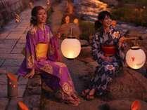 【光の夢劇場】7月14日~9月末まで玉湯川をキャンドルの灯りがロマンチックに照らします♪(雨天中止)