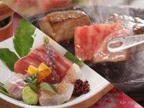 【選べる料理長一押し会席】魚コース・肉コース別々でシェアも可能♪