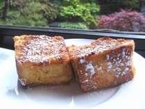 朝食【特製フレンチトースト】焼き立てしっとり!女子に大人気の朝食メニュー★