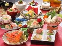 【冬の花心会席2019】地魚鮮魚3種盛り×蟹雪見鍋×茹で姿蟹半身