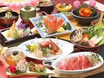 【冬の花舞会席2019】地魚鮮魚4種盛り×海老芋湯葉餡かけ×和牛すき鍋