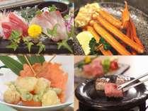【夏の茹で蟹(一肩)×島根和牛ステーキ会席】