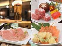氷点下の生ビール付き夏の得々10,000円プラン☆和牛ステーキ×串天婦羅×地元豚シャブ鍋