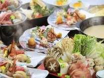 【∪・ω・∪ワンちゃんと一緒♪】静岡県産いきいき地鶏&もち豚の鍋が愉しめる/特選コース■