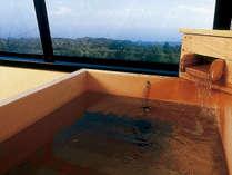 【客室露天風呂一例】檜風呂。相模灘を眺める贅沢な一時をお楽しみください♪