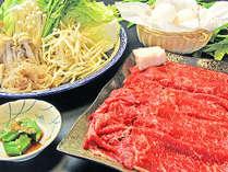 地元の新鮮な野菜と和牛ですき焼き♪