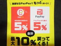 消費者還元及びPeypey(Peypeyに関しては、%の変更有。)