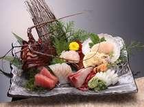 これで一人盛り!伊勢海老のお刺身と新鮮魚介類盛り合わせ!