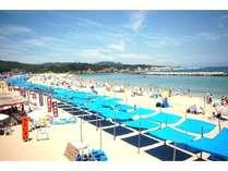 目の前は青い海!白い砂浜!千鳥ヶ浜海水浴場♪