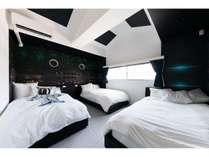 宇宙船のような寝室!