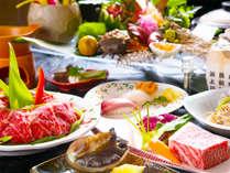 【選べる会席】アワビ又は壱岐牛ステーキのどちらかを選ぶことが出来る豪華会席