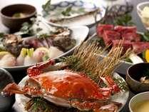 【食材の宝庫・佐賀欲張り】茹で竹崎蟹(わたり蟹)に佐賀和牛溶岩焼と新鮮魚介にサザエも!