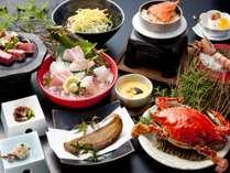 【夕食】竹崎かにと佐賀和牛溶岩焼プラン