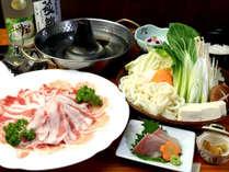 【夕食一例】しゃぶしゃぶコース一例 料理長オリジナルコクまろポン酢でお召し上がり頂きます。