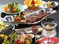 鳥取和牛ステーキ会席 一例