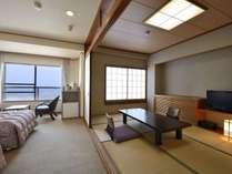 和室とツインベッドの和洋室タイプ