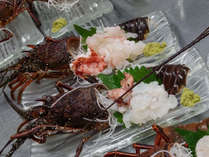 *【夕食一例】伊勢海老のお造り。ぷりっぷりの食感がたまりません!