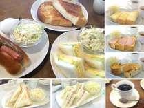 8種類から選べる朝食■ドリンク付き!当施設からすぐ、地元で大人気の喫茶店でのご提供♪