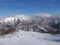 雪化粧した山々