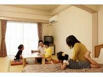 ゆったり広々の和洋室で家族時間(例)