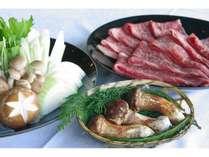 松茸入り国産牛のすき焼き(一例)