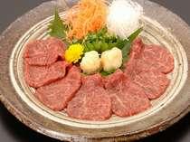 ■夕食一例■馬刺しも別注でご用意できます。