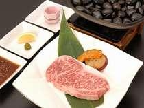 ■夕食一例■石焼ステーキ