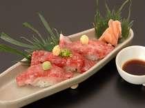 ■夕食一例■牛にぎり寿司