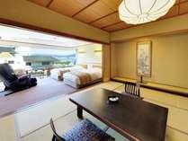 和洋室。最大8名様までお泊りいただけます。